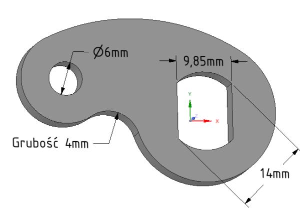 blokada obrotu osi M14