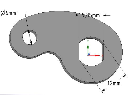 Blokada obrotu osi M12
