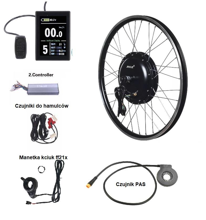 zestaw do elektryfikacji roweru MXUS XF40-30H 6T 10x6
