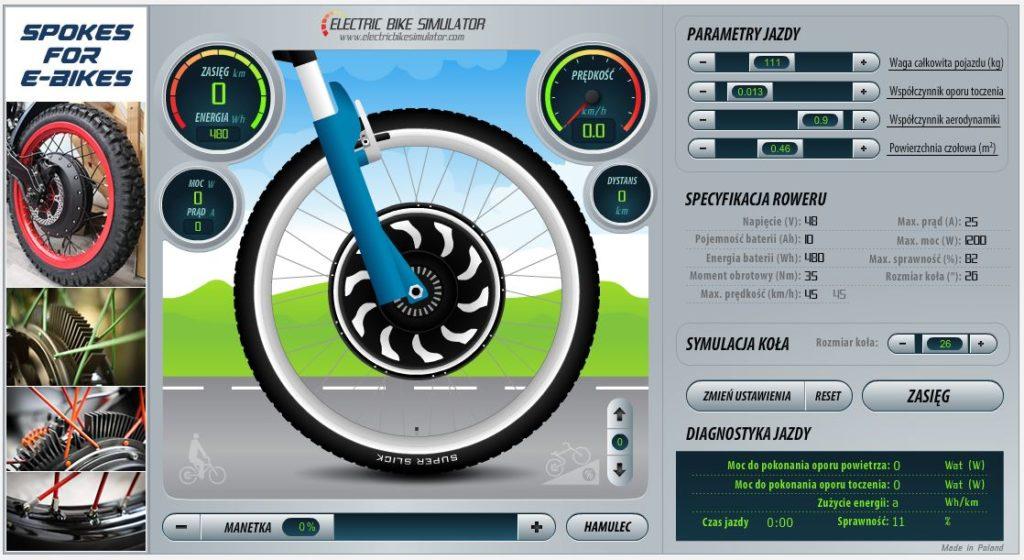 kalkulator zasięgu roweru elektrycznego MG VOLT